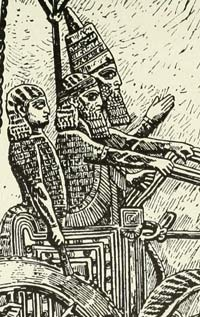 An old drawing of Hammurabi